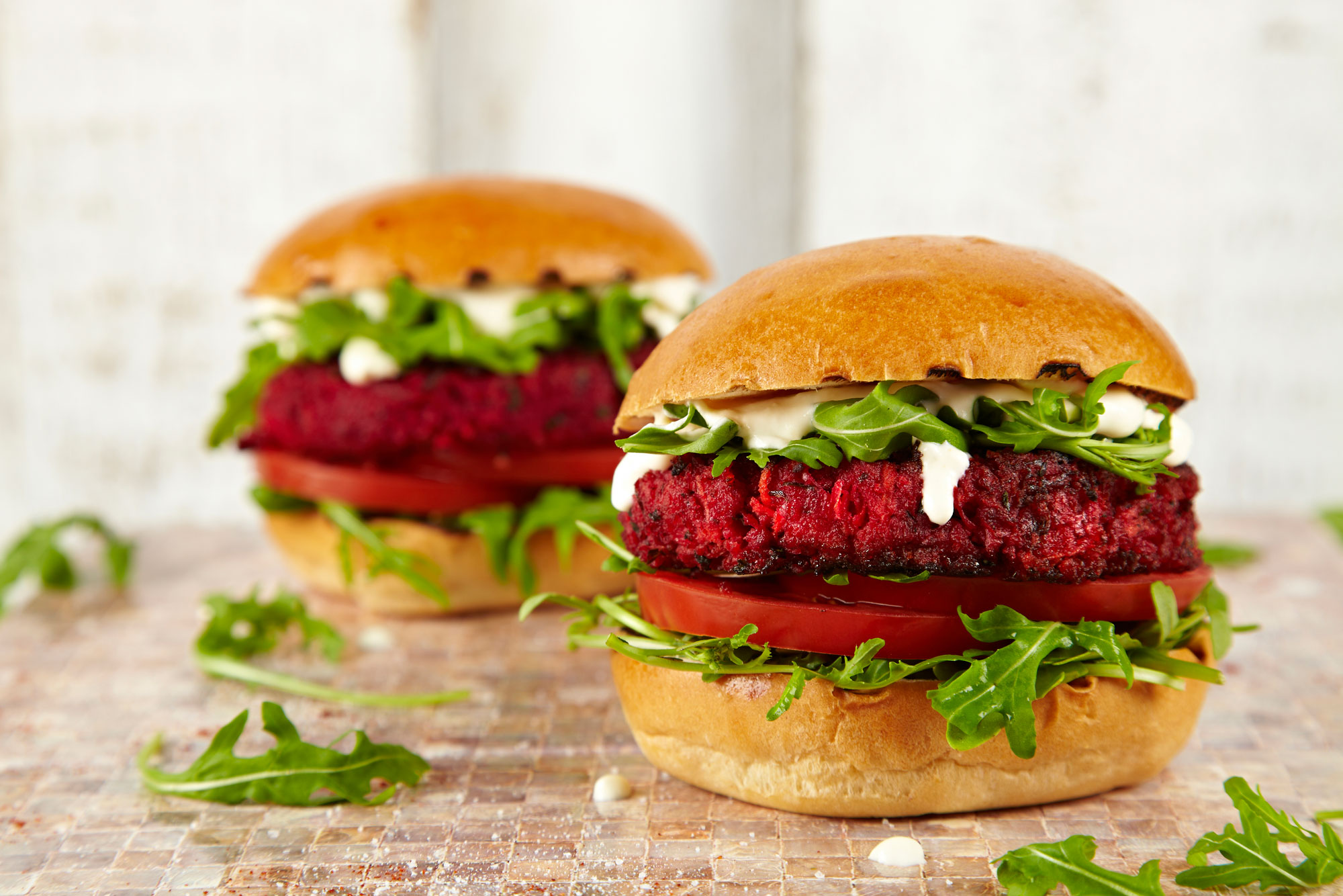 Lincolnshire Sausage & Beetroot Veggie Burger - Recipes | Cauldron Foods