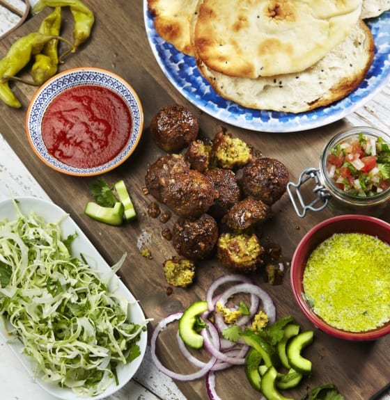 Shawarma Garlic Kebab with Falafels