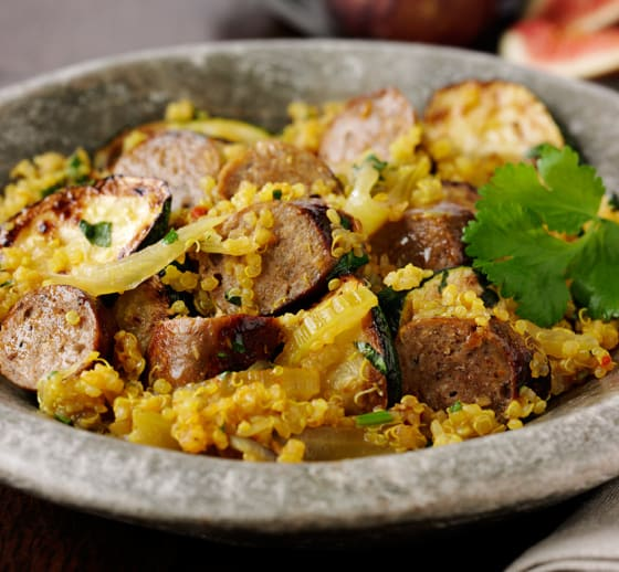 Quinoa, Fennel and Sausage Pilaf