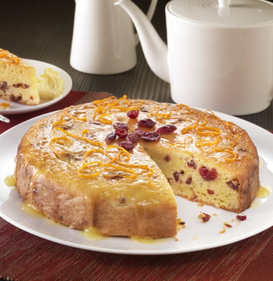 Cranberry, Orange, Tofu and Polenta Cake