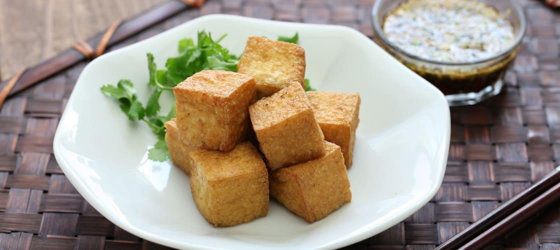 Deep-fried tofu pieces