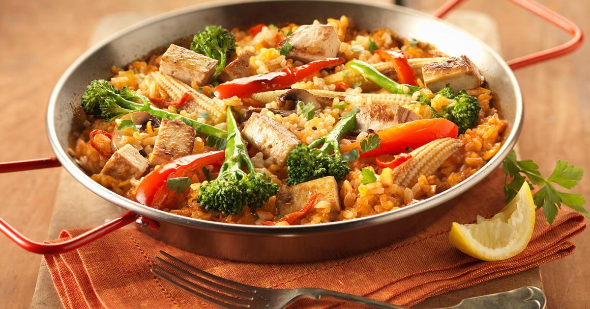 Smoked Tofu Paella Recipes Cauldron Foods