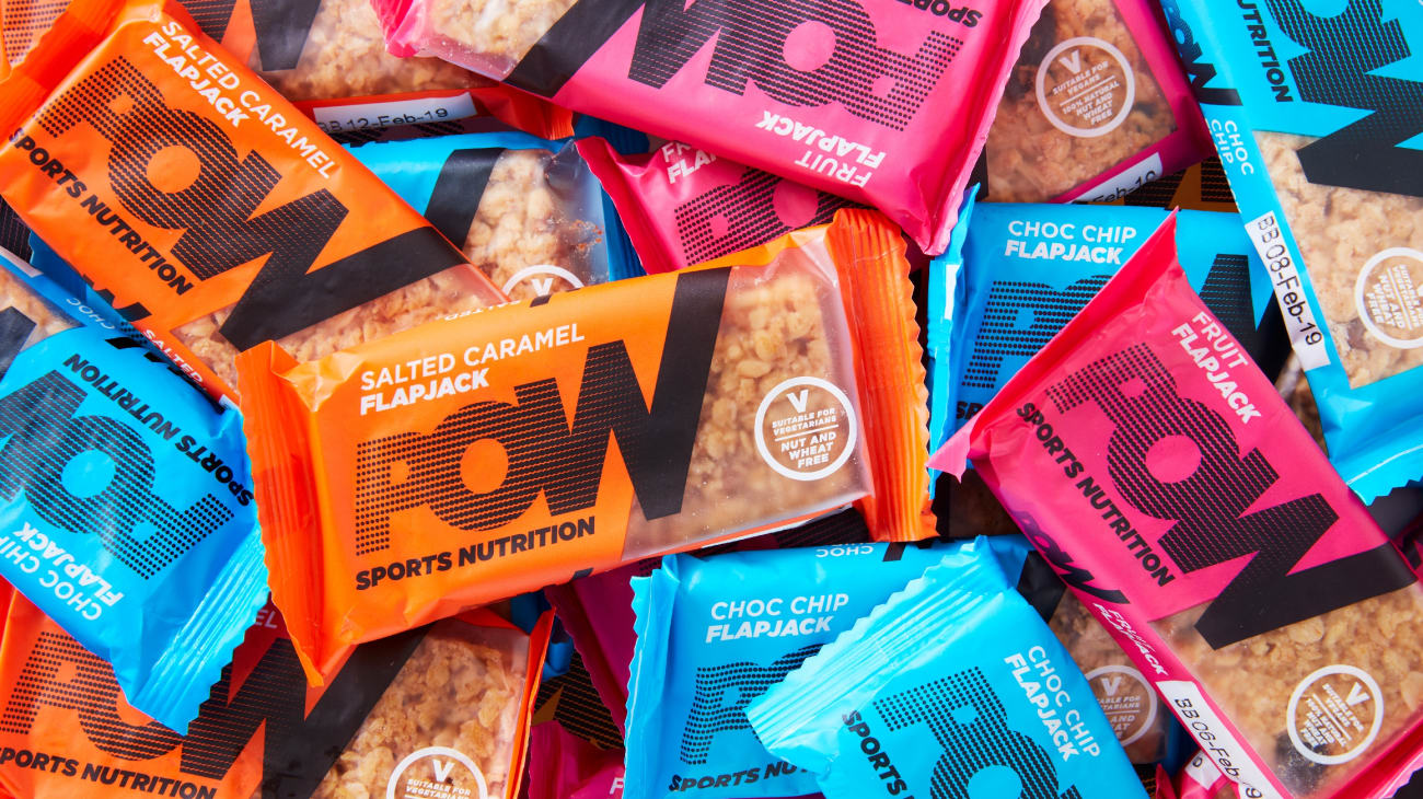 Pow sports nutrition brand packaging range