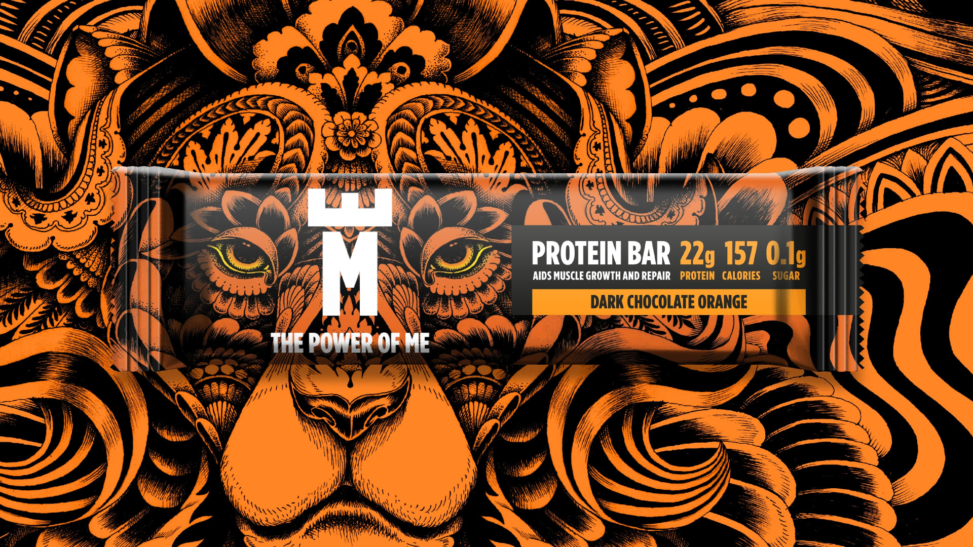 The Power of Me protein bar packaging