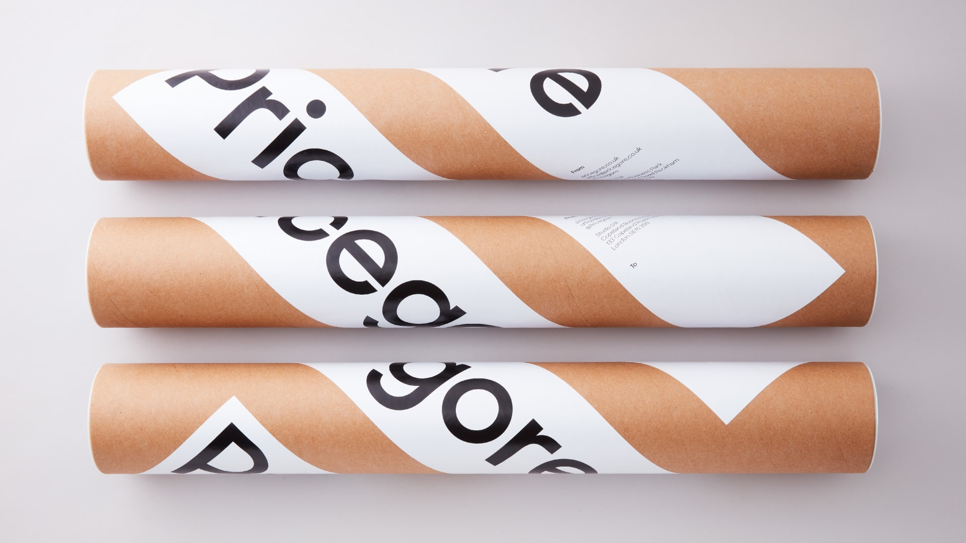 Pricegore identity poster tubes