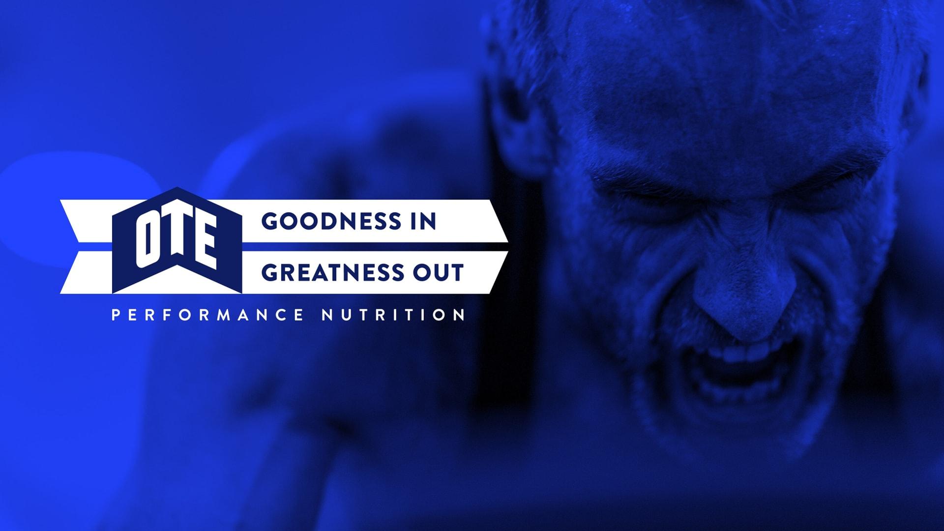OTE sports nutrition brand identity