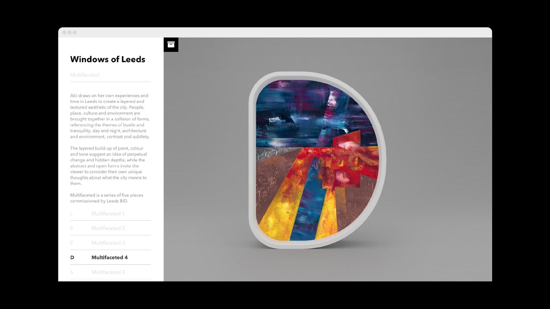 Windows of Leeds website archive: Abi Moffat comission