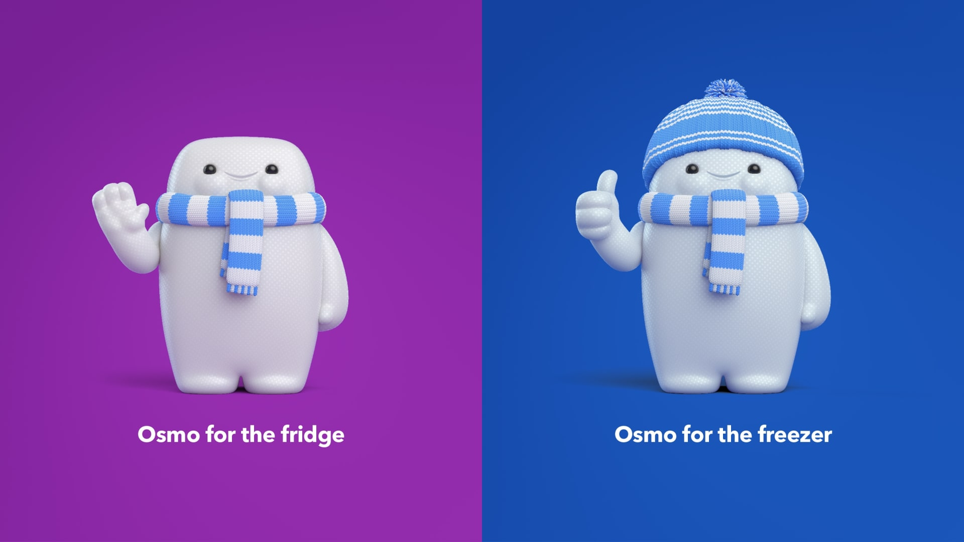 Osmo for the fridge and Osmo for the freezer illustrations