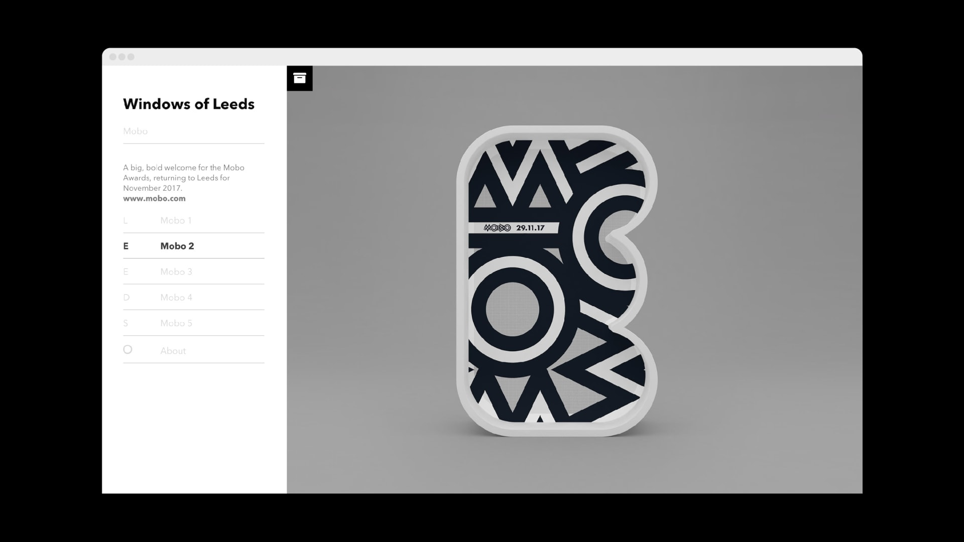 Windows of Leeds website archive: Mobo comission