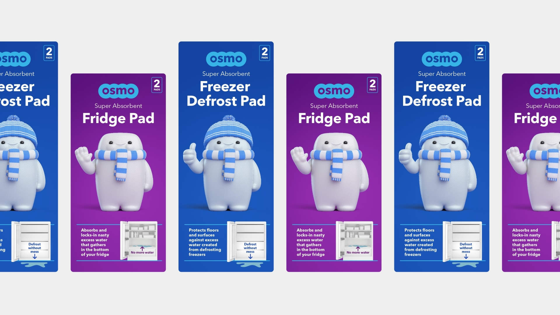 Osmo brand packaging