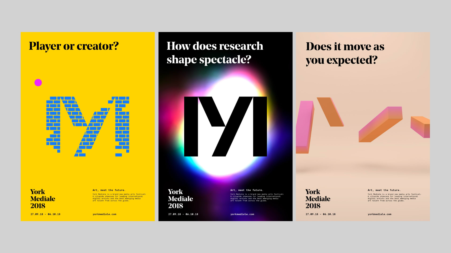 York Mediale questions and ident posters
