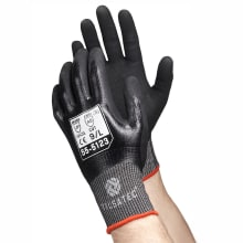55-5123 Tilsatec cut level 5 E fully coated nitrile glove with micropore foam nitrile palm