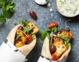 Grilled Vegan Tofu Gyros