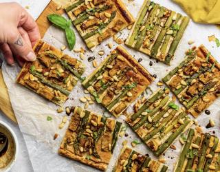 Tofu and Asparagus Tart