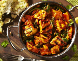 Vegan tofu Saag Jalfrezi