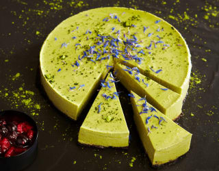 Tofu Matcha Cheesecake
