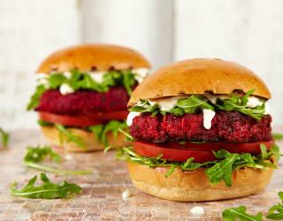 Lincolnshire Sausage & Beetroot Veggie Burger