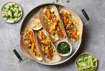 Tofu Tikka Masala Chapatti Tacos