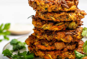 Tofu Vegetable Fritters