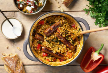Vegan Sausage & Pearl Barley Casserole