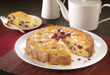 Cranberry, Orange, Tofu and Polenta Cake