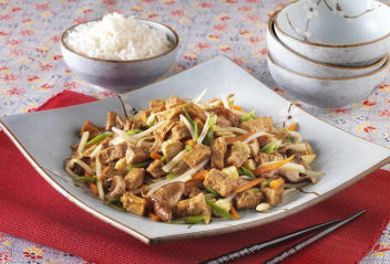 Buddha's Stir Fry Vegetable with Marinated Tofu
