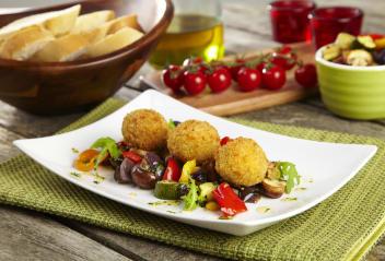 Sicilian Arancini with Roasted Mediterranean Vegetables