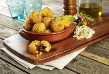 Sicilian Arancini with Baba Ganoush