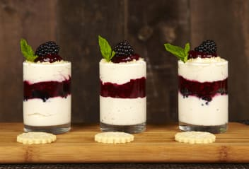 Hedgerow Syllabub with Sable Biscuits