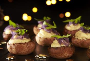 Tofu & Parsnip Mushroom Cups with Caramelised Onion