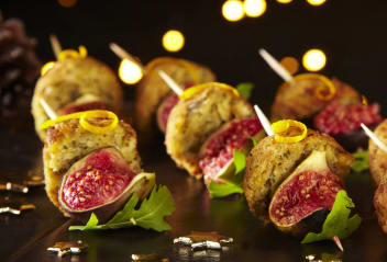 Falafel & Fig Skewers with Citrus Dressing