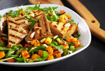 Sweet Ginger Tofu Japanese Salad