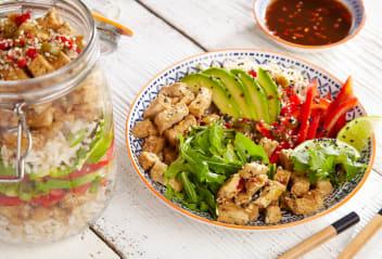Hawaiian Tofu Poke (Po–kay) Salad