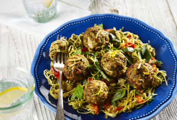Sausage & Fennel Polpette with Courgetti