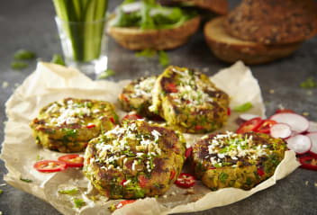 Spicy Sausage Patties with Coconut Crumbles