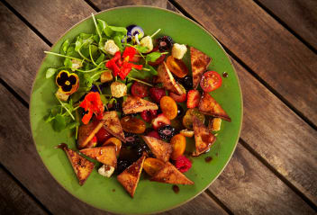 Sweet Ginger Tofu Summer Berry Salad