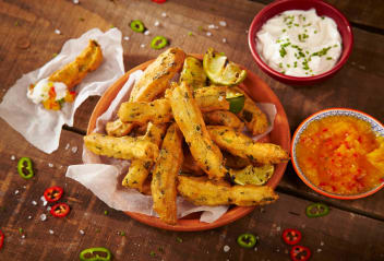 Jalapeno & Lime Churros with Mango Dip