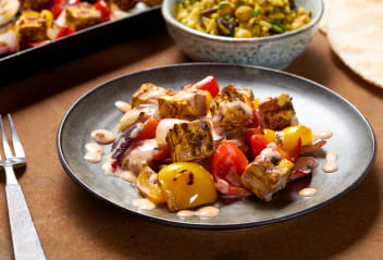 Lebanese Tofu Shish with Harissa Sauce