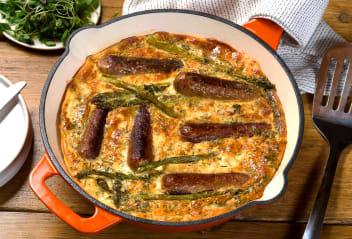 Cumberland Sausage & Spring Greens Frittata