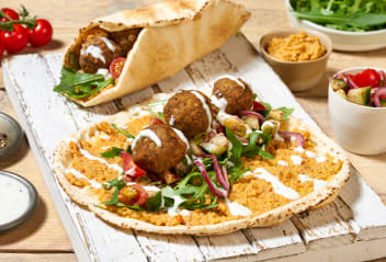 Lavash Wrap with Persian Falafels