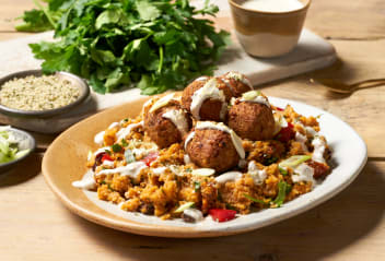 Moroccan Falafels with Harissa Couscous