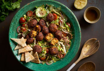 Falafel Fattoush Salad with Toasted Pitta & Sumac Dressing