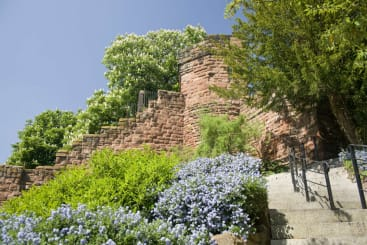 The walls of Chester at Water Tower