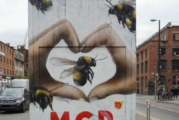 I love Manchester worker bee street art