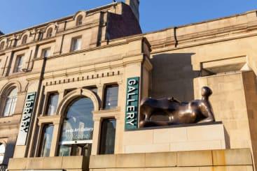Leeds art gallery in the sunshine