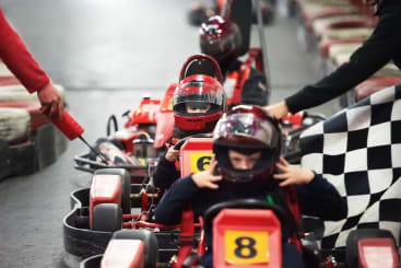 Kids go karting in Leeds