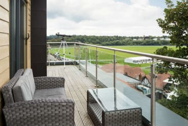 The view on to Chester Racecourse from the Ascot Suite at Roomzzz