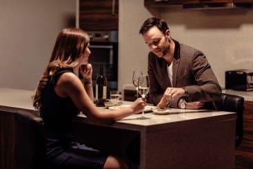 Couple enjoying time at Roomzzz Aparthotel