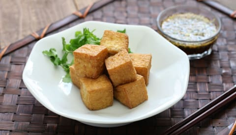 Deep-fried tofu pieces