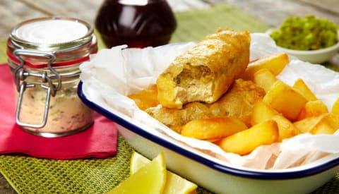 Fish and chips - traditional British recipes with a twist